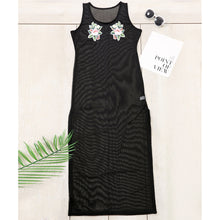Bohemia Sexy Perspective Embroidery Sleeveless Beach Vacation Dress