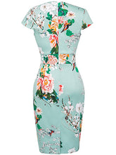 Restoring Ancient Ways Square Neck  Floral Bodycon Dress