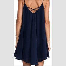 Cross Condole Belt Sexy Chiffon Lady Casual Dress
