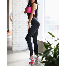 New Two-Color Stitching Fashion Tight Yoga Pants Jumpsuit