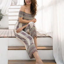Bohemian Off-Shoulder Printing Jumpsuit