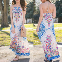 Bohemian Ethnic Style Printed Maxi Vacation Dress