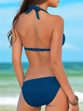 Backless  Plain  Mid-Rise Bikini For Women