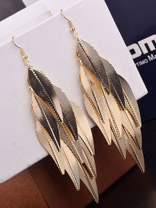 Leaf Shape Long Earrings For Women