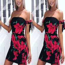 Bohemian Strapless Printing Vacation Dress