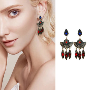 Bohemian Folk-Custom Zircon Earrings