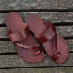 Deep Brown Flat Heel Summer Daily PU Slippers Woman Shoes