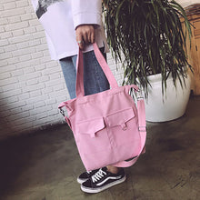Casual Pure Color Canvas Crossbody Bag