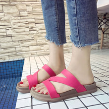 Casual Peep Toe Flat Sandals
