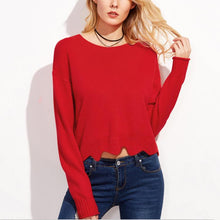 Early Autumn Fashion Pure Color Soft Sweaters