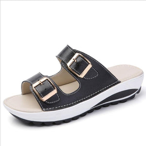 Casual Flat Bottom Leather Sandals