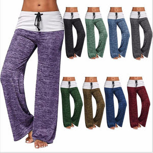 Elastic Waist  Outdoor Leisure Wide Leg Pants