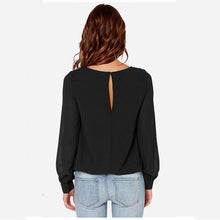 Chiffon Long-Sleeved T-Shirt With Cuffs