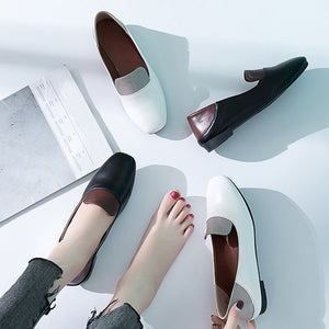 Color Block  Flat  Round Toe  Date Office Comfort Flats
