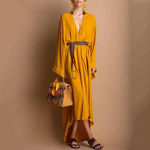 Fashion Casual V Neck Maxi Dress