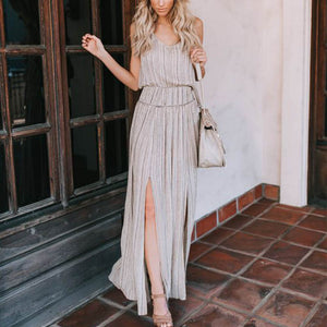 Elegant & Fashion Plain Sleeveless Maxi Dress