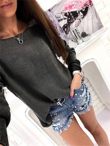 Casual Round Neck Fashion Sweater