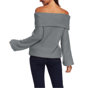 A Long - Sleeved Knitted Sweater