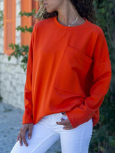 Casual Big Pocket Long Sleeve T-Shirt