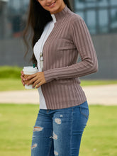 Contrast Stitching Long Sleeve Sweater
