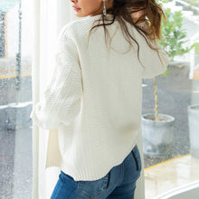 Casual Plain Long Lantern Sleeve Pocket Cardigans