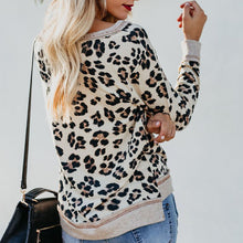 Autumn And Winter New Fashion Leopard Print Knit T-Shirts