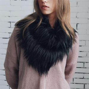 Fashion Casual Fur Thermal Scarf