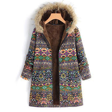 Casual Ethnic Style Printed Long-Sleeved Warm Coats