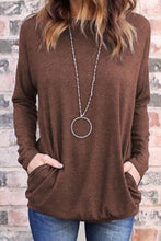 Casual Round Collar Plain Loose Soft T-Shirt
