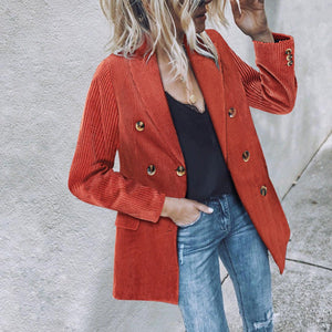 Fashion Casual Corduroy Women's Blazers