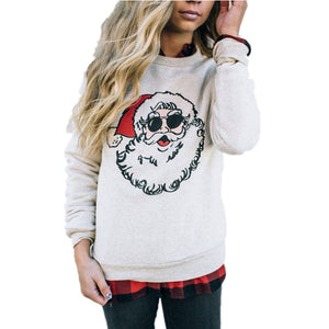 Christmas  Round Neck  Cartoon  Sweatshirts