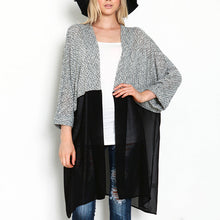 Chiffon Knitting Patchwork Casual Cardigans