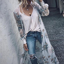 Casual Mesh Printed Trench Coat