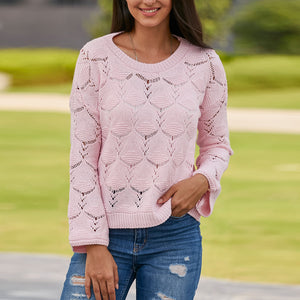 Hook Flower Hollow Loose Sweater
