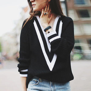 Deep V Neck Sweaters