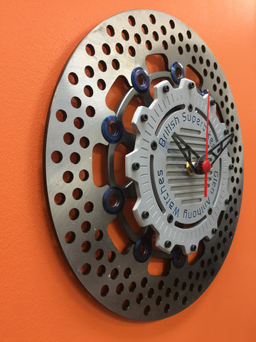 Brake Disc Clock Graphite Grey