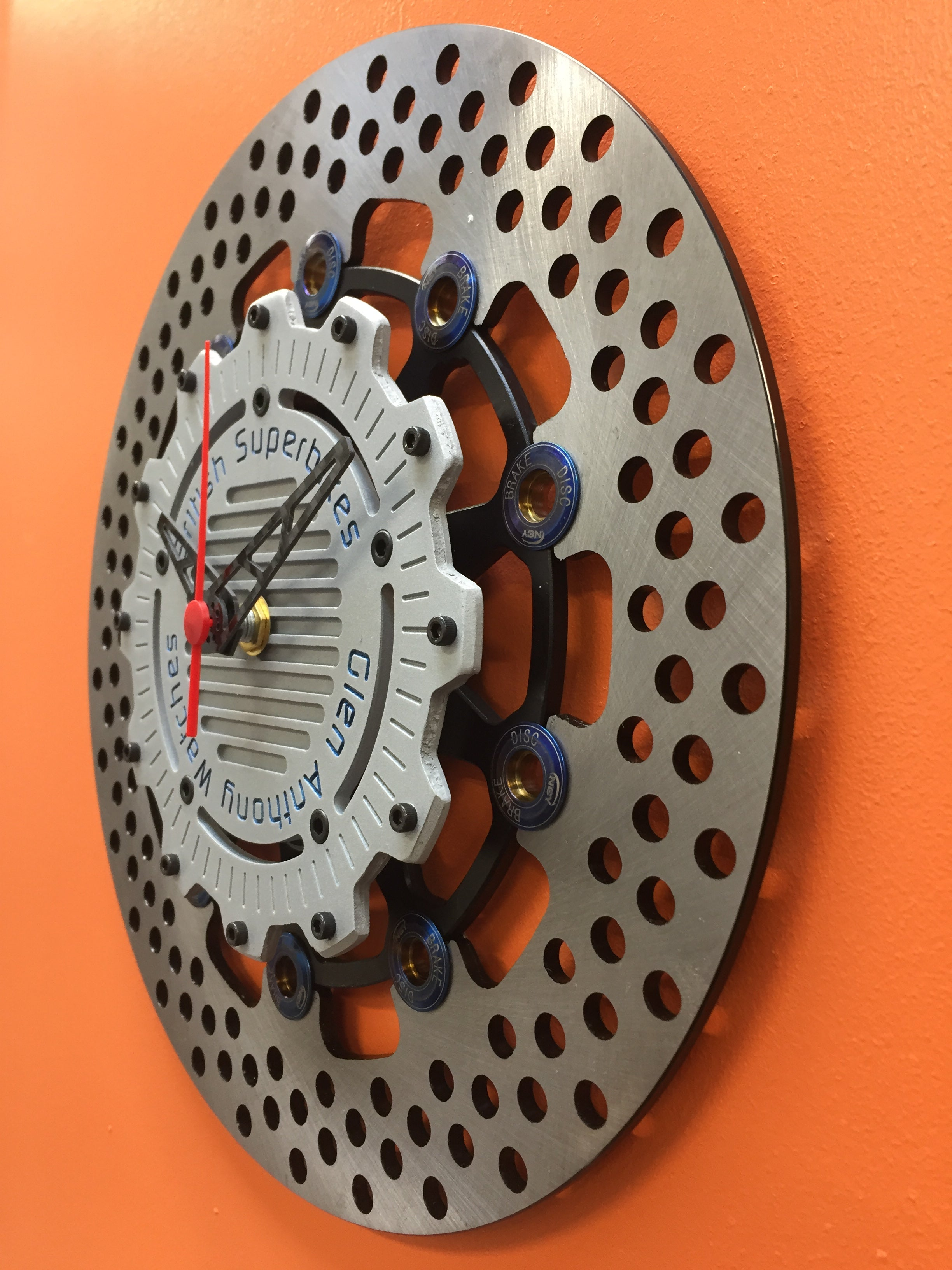 Brake Disc Clock Black