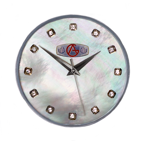 Classic Sport Dial-Mother of Pearl-Crystal hour markers and stainless steel chapter ring