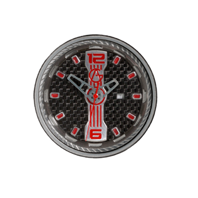 Synchro Dial-Carbon Fibre-Red-Stainless Steel Chapter Ring, Swiss Quartz Movement