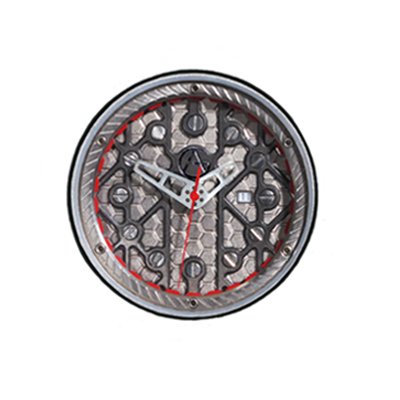 Synchro Dial-Titanium Honeycomb-Space Frame-Layer-red -details Swiss Quartz Movement