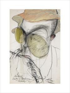 A Doctored Hunter S Thompson Drawing