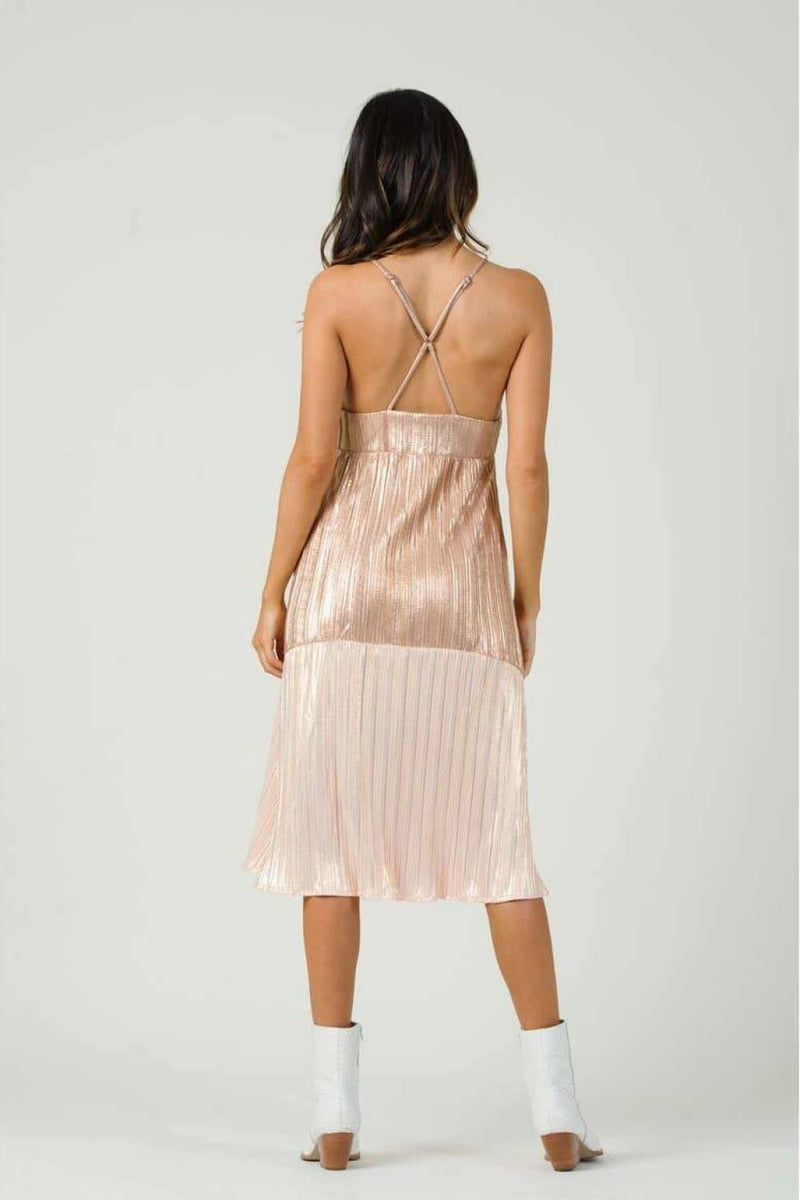 Amarone Cross Back Midi Dress - Dresses - Lucca Couture