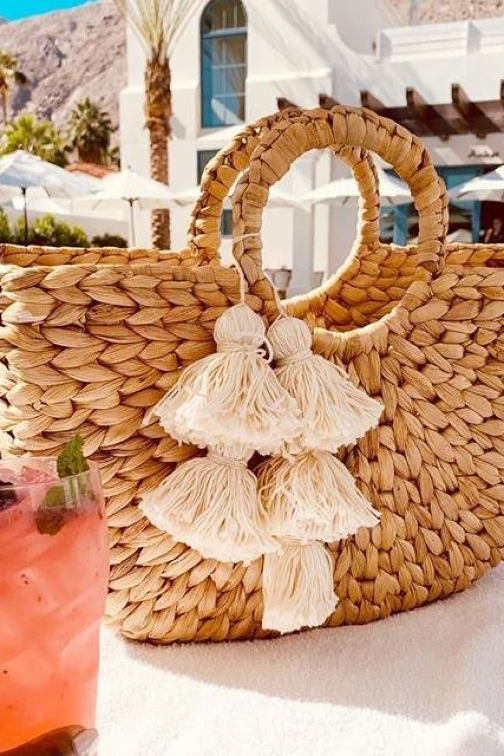 Anaya Beach Straw Bag - Bags - Brunna Co