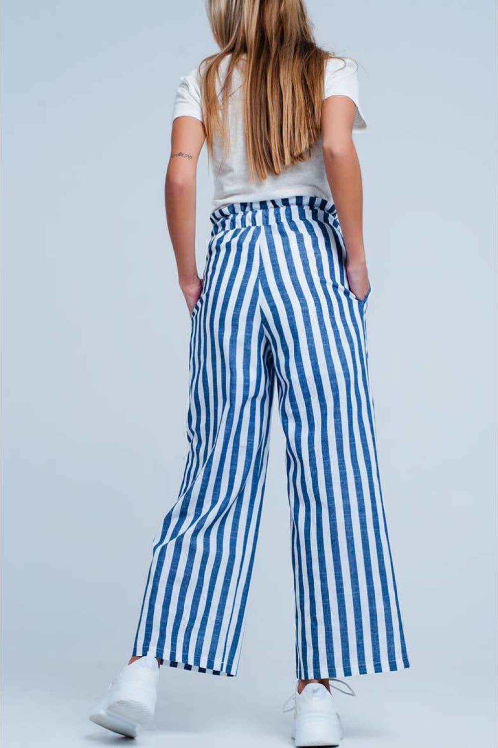 Ava Blue Tapered Pants - Pants - Q2
