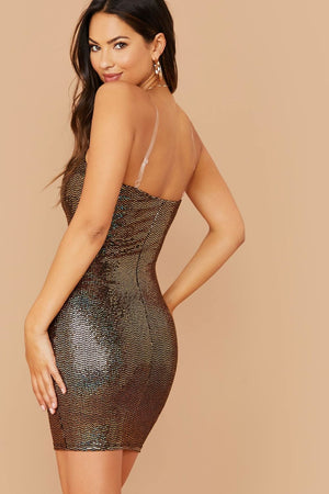 Awaken My Love Gold Sequin Bodycon Dress - Dresses - Evan & Jane