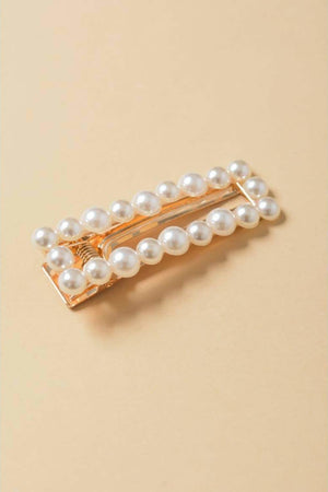 Bianca Double Prong Pearl Barrette - Hair Accessories - Leto Accessories