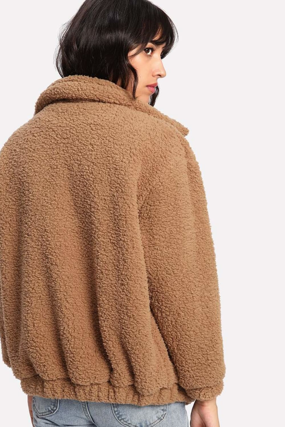 Camel Teddy Coat - Outerwear - Evan & Jane