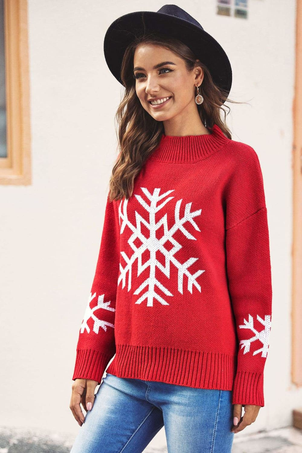 Christmas Classic Red Holiday Sweater - Sweaters - Evan & Jane