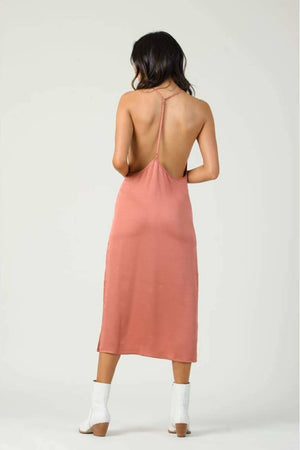 Constantia Open Back Side Slit Dress - Dresses - Lucca Couture