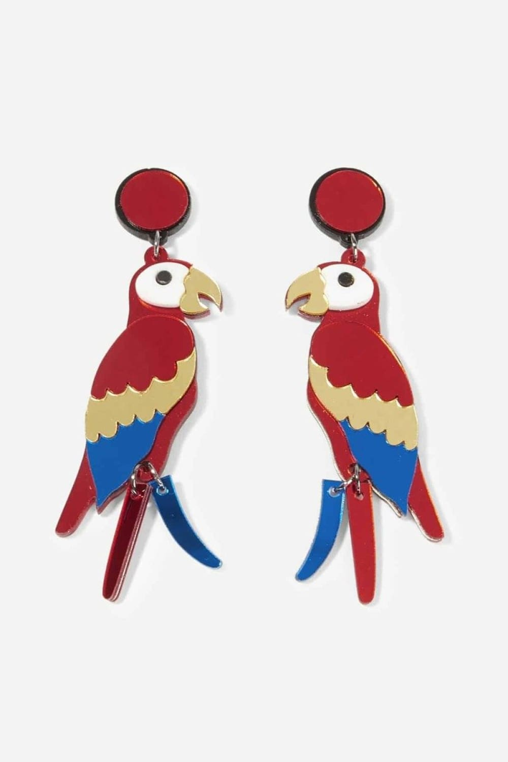 Exotic Escape Parrot Dangle Earrings - Earrings - Evan & Jane